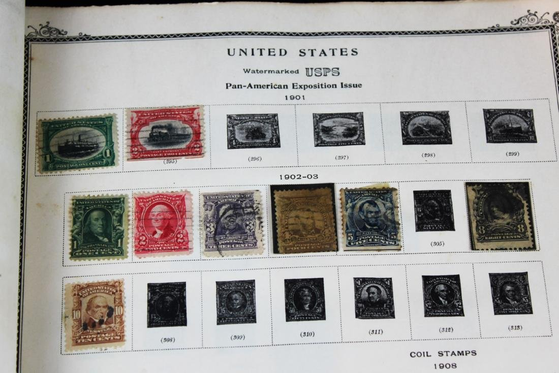 One book of American Stamps - 9