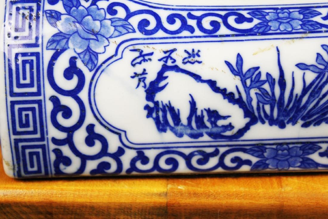Antique Chinese Porcelain Pillow - 10