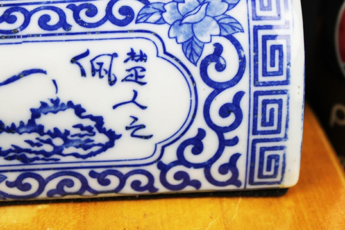 Antique Chinese Porcelain Pillow - 7