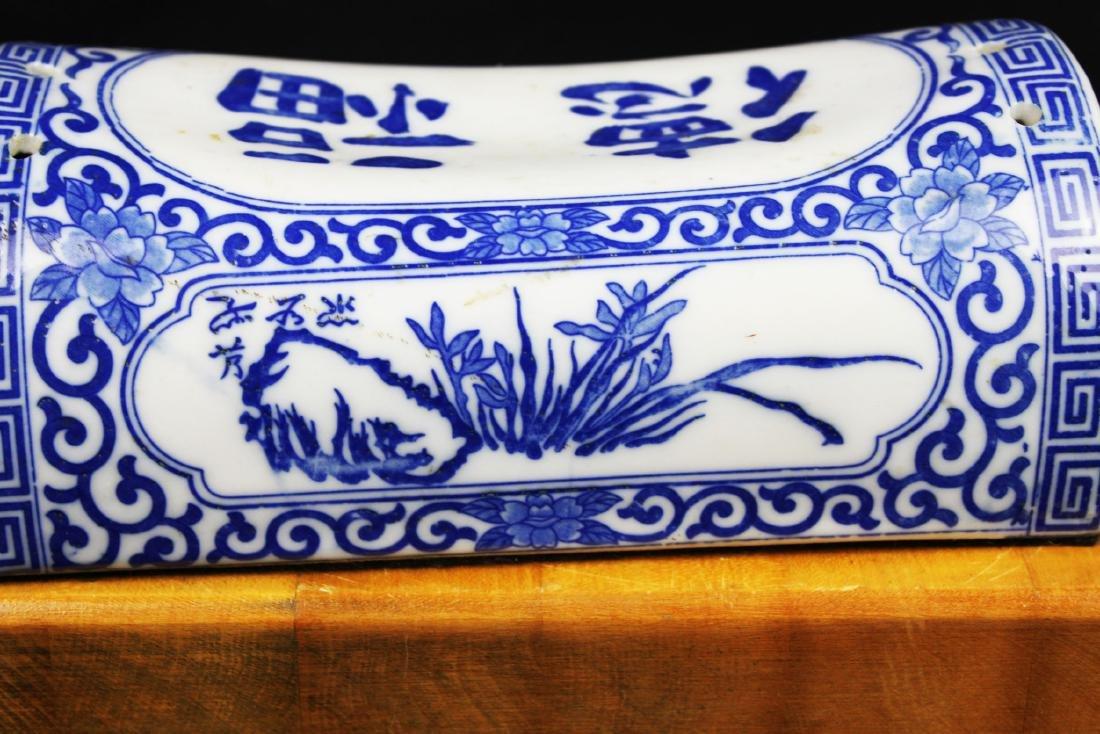 Antique Chinese Porcelain Pillow - 9