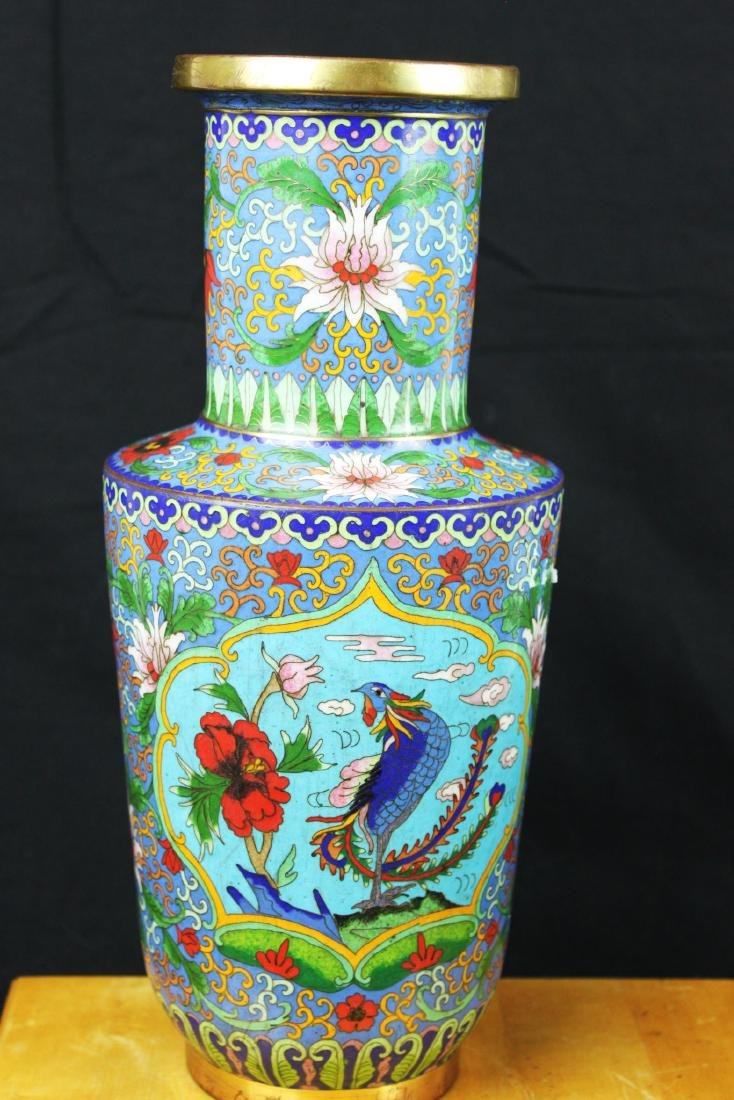 Two Chinese Cloisonne Vases - 10