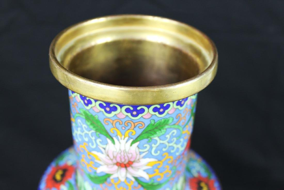 Two Chinese Cloisonne Vases - 2