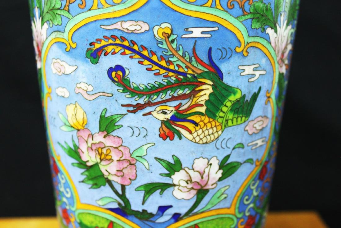Two Chinese Cloisonne Vases - 4