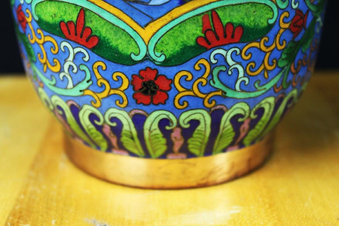 Two Chinese Cloisonne Vases - 5