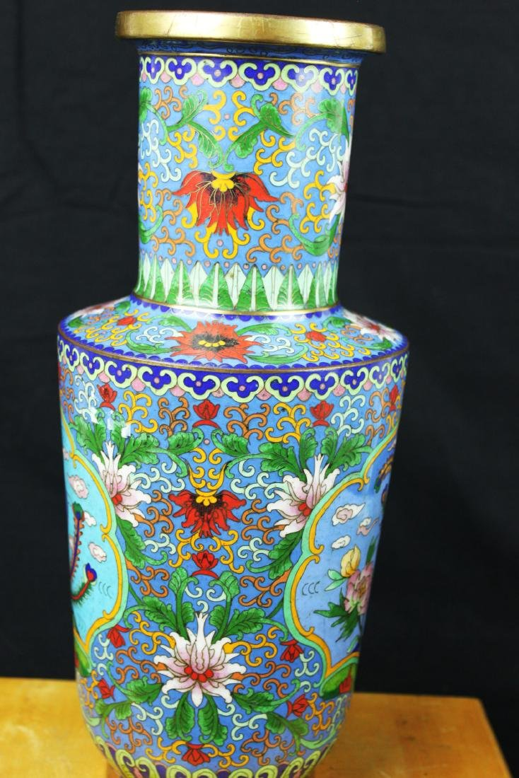 Two Chinese Cloisonne Vases - 6