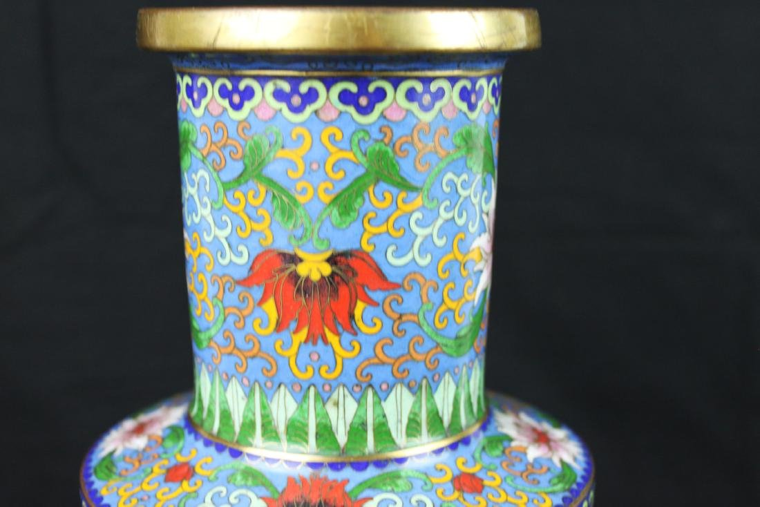 Two Chinese Cloisonne Vases - 7