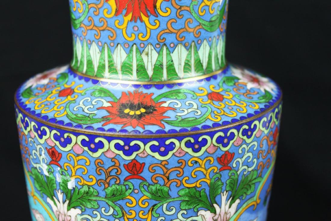 Two Chinese Cloisonne Vases - 8