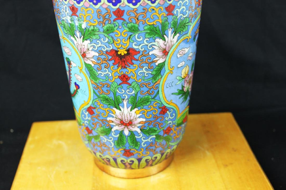 Two Chinese Cloisonne Vases - 9