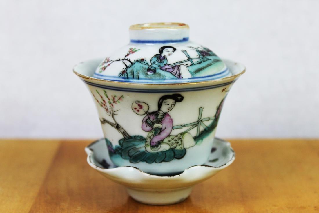 Antique Chinese Porcelain Tea Cup 1900s