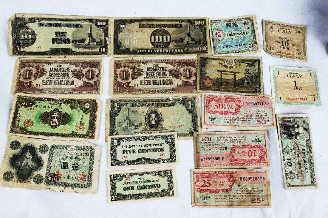 Lot of Japanese WWII Bank Notes