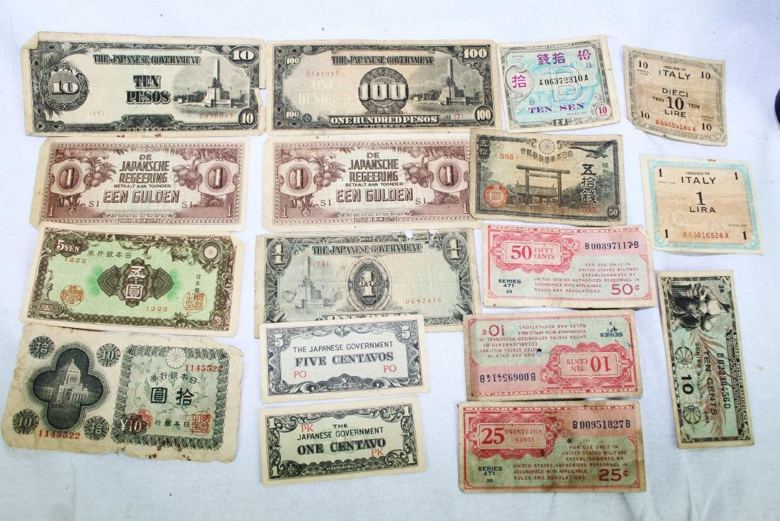 Lot of Japanese WWII Bank Notes - 2