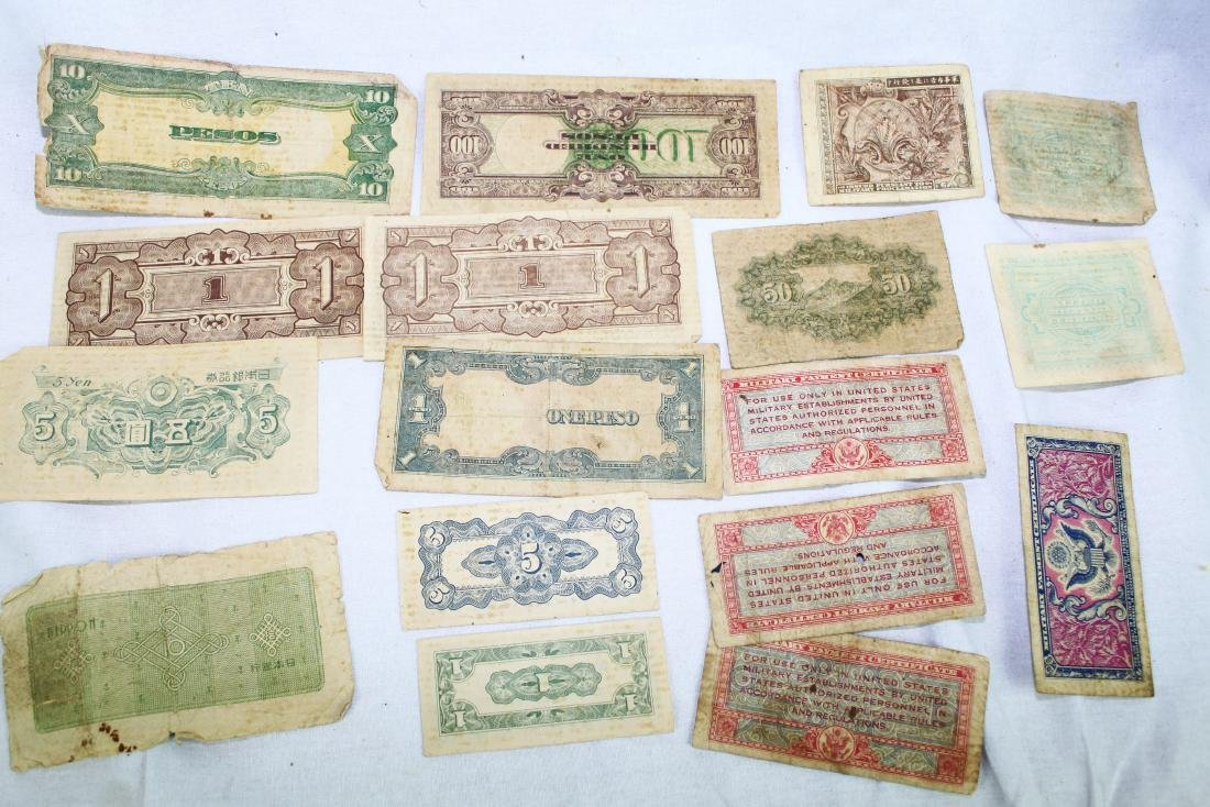 Lot of Japanese WWII Bank Notes - 3