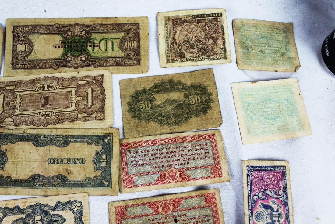 Lot of Japanese WWII Bank Notes - 5