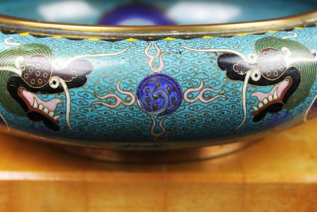 Antique Chinese Cloisonne Planter - 6