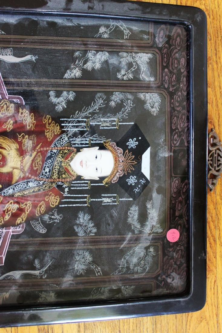 Antique Glass Painting of Chinese Empress Dowager Cixi - 2