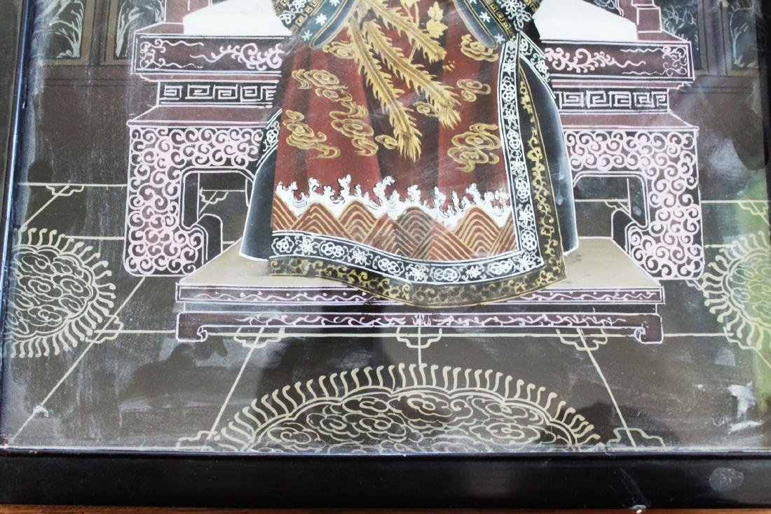 Antique Glass Painting of Chinese Empress Dowager Cixi - 4