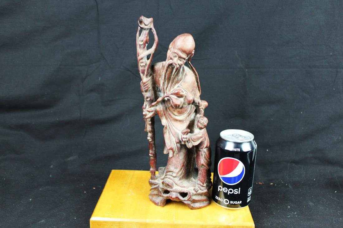 Antique Hand Carved Wood Statue