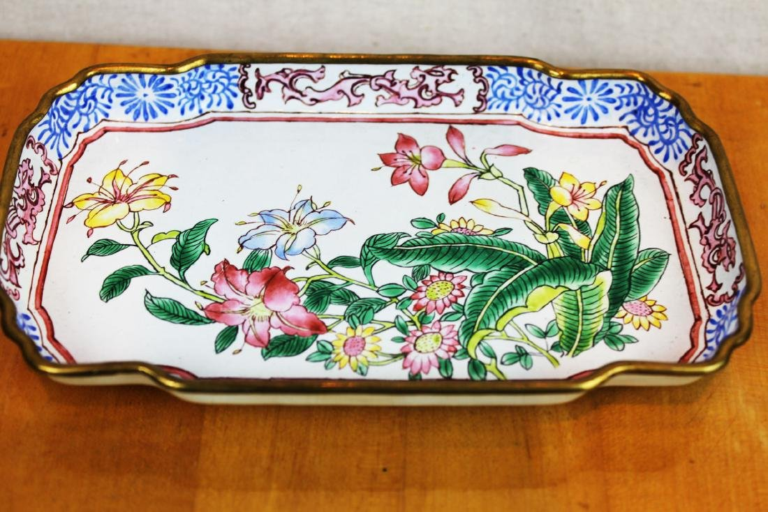 Two Chinese Cloisonne Dishes - 5
