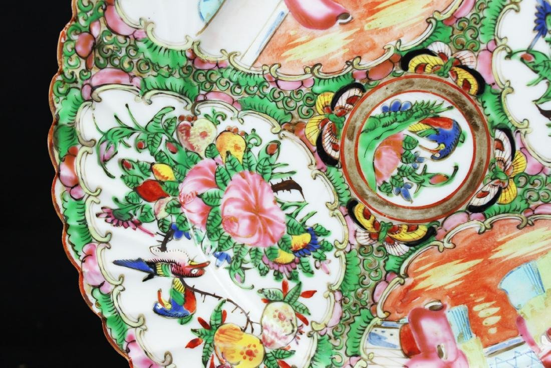 A Pair Chinese Famillie Rose Porcelain Plates - 3