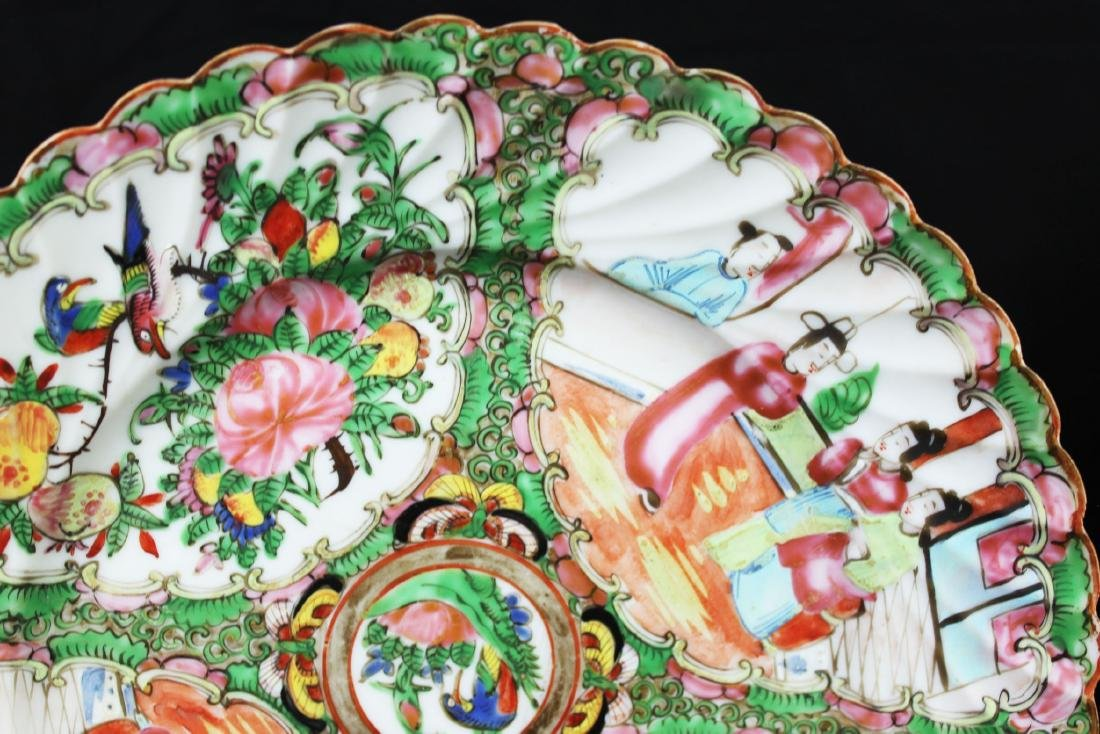 A Pair Chinese Famillie Rose Porcelain Plates - 6
