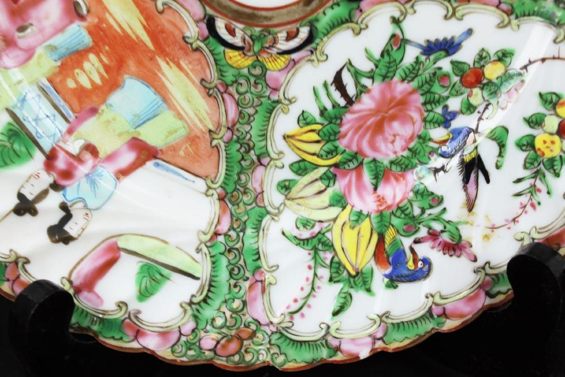 A Pair Chinese Famillie Rose Porcelain Plates - 8
