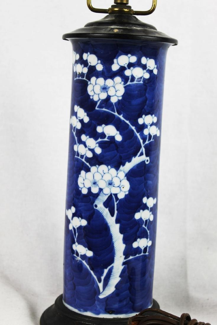 Antique Chinese Porcelain Vase Lamp - 5