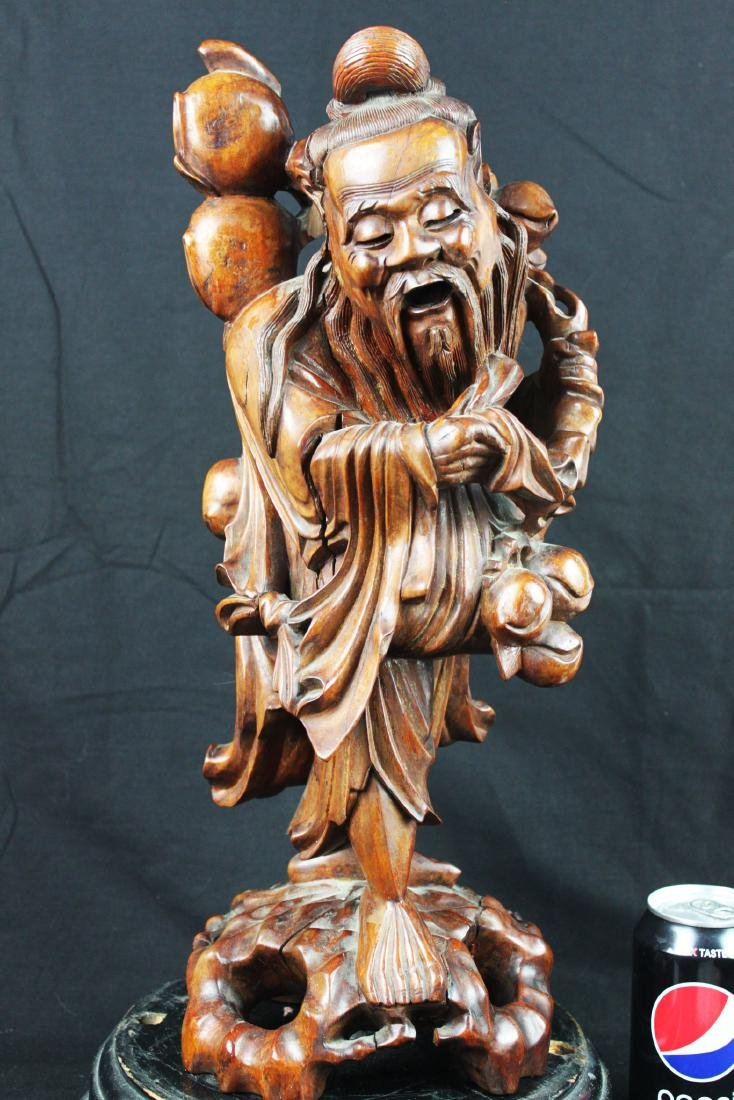 Antique Hand Carved Chinese Statue