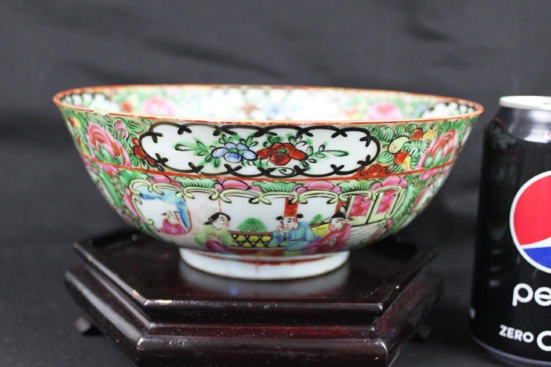 Antique Chinese Familie Rose Porcelain Bowl