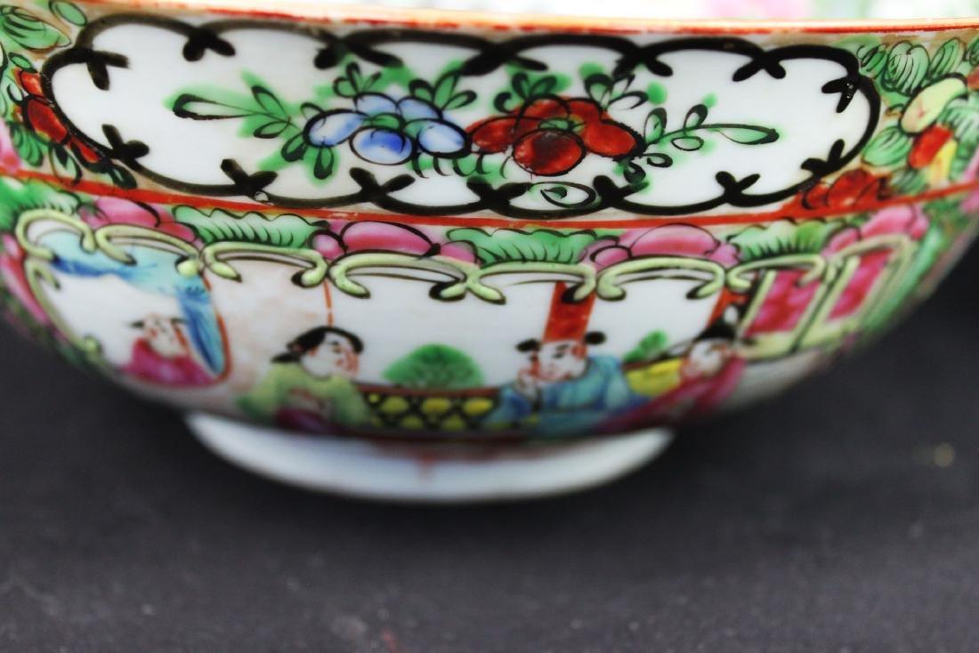 Antique Chinese Familie Rose Porcelain Bowl - 4