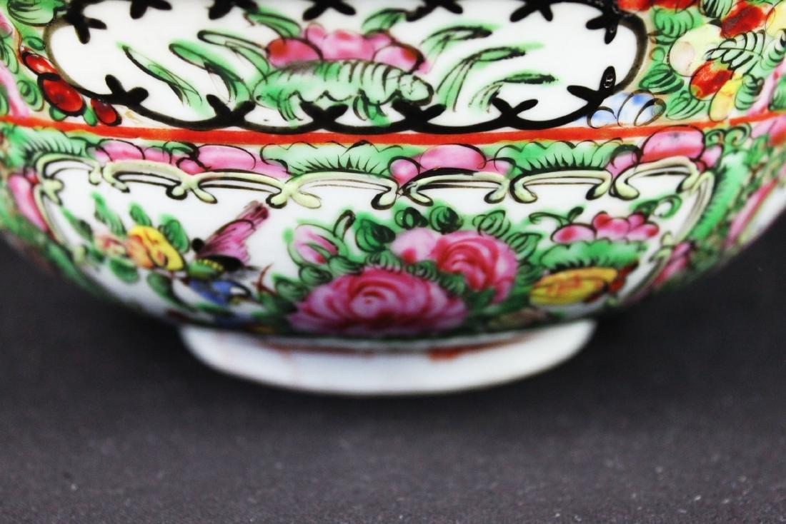 Antique Chinese Familie Rose Porcelain Bowl - 6