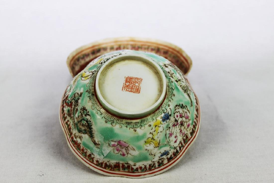 Antique Super Thin Chinese Porcelain Bowl made in Qing - 2