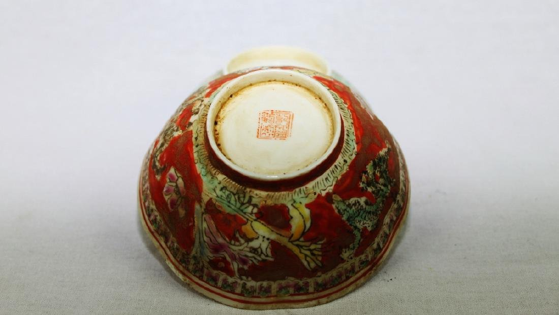 Antique Super Thin Chinese Porcelain Bowl made in Qing - 3