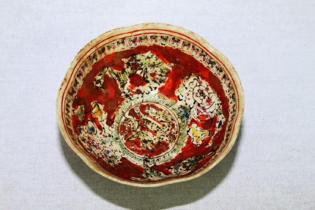 Antique Super Thin Chinese Porcelain Bowl made in Qing - 7