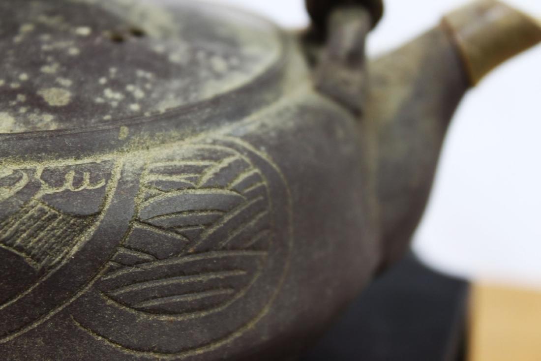 Antique Chinese Zisha Teapot - 9