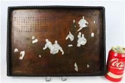 Antique Chinese Bronze Tray (Humenxiaoyan) 1800s