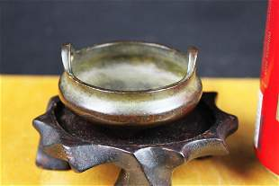 Antique Chinese Bronze Censor Burner