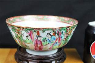 Antique Chinese Famillie Rose Porcelain Bowl
