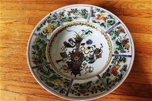 Antique Chinese Porcelain Plate 17th century