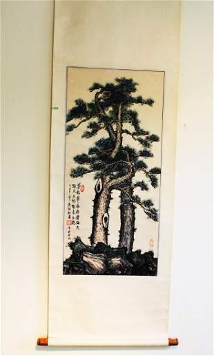 Antique Chinese Brush Scroll Painting