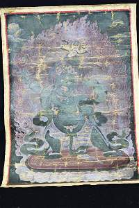 Antique Chinese TangKa Painting
