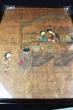 Antique Chinese Painting on Silk