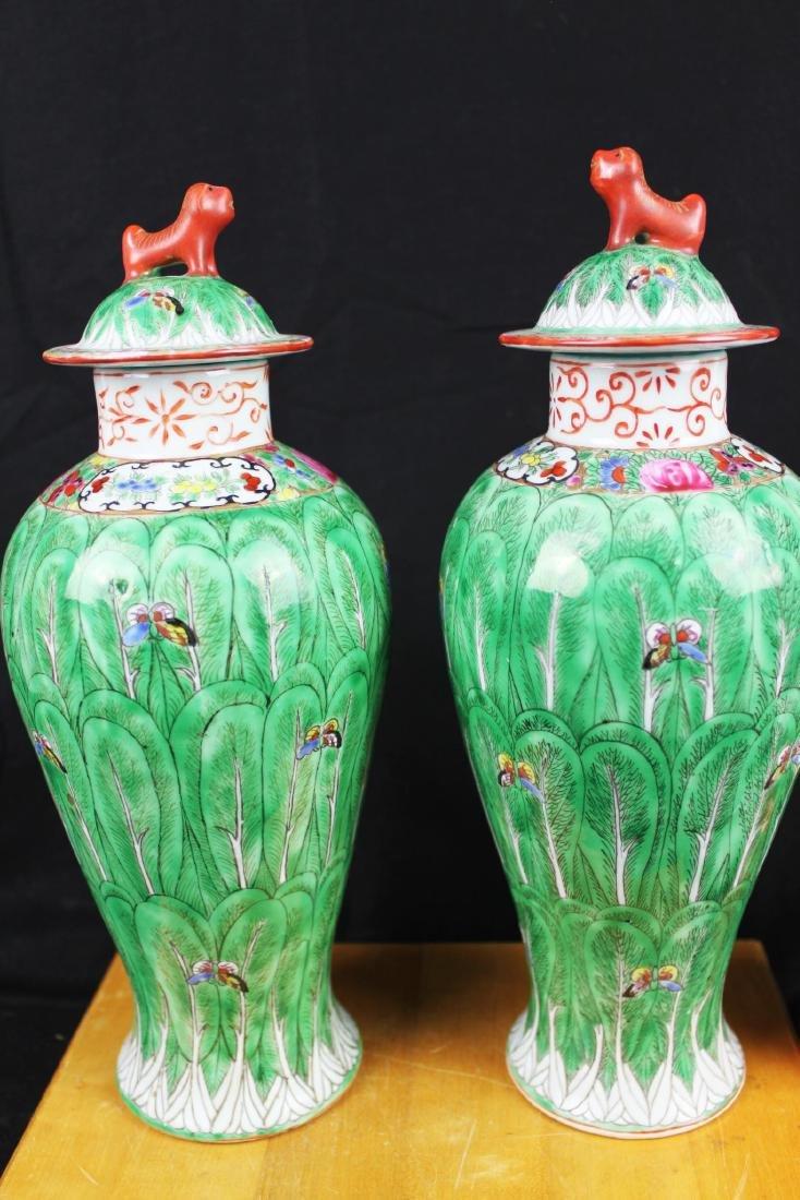 A Pair Chinese Porcelain Vase/Jar 1800s