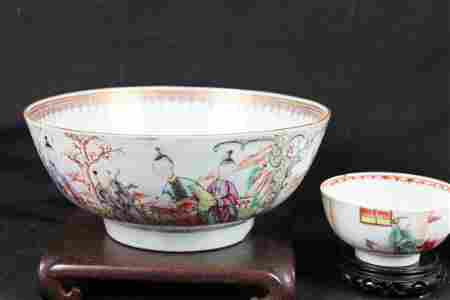 Antique Chinese Porcelain Bowl 1800s-1900s