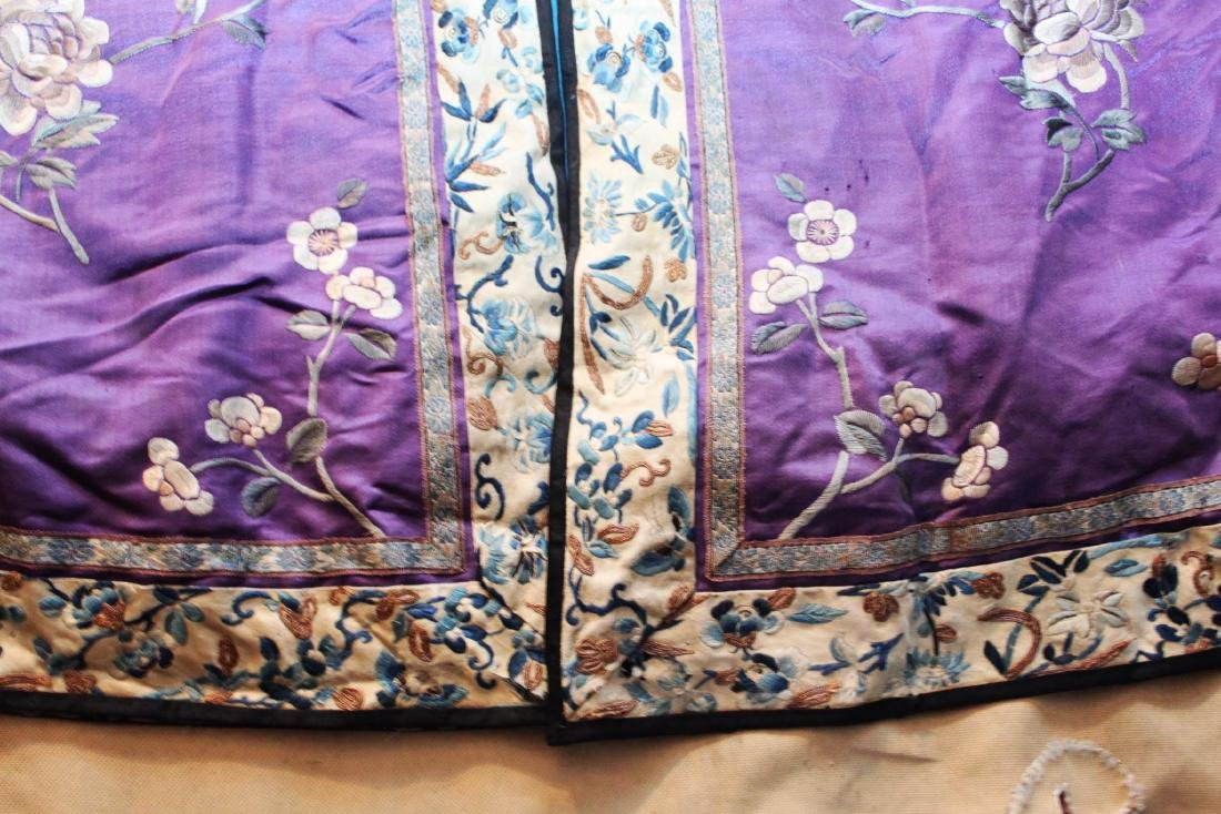 Antique Chinese Hand Carved Silk Cloth - 10
