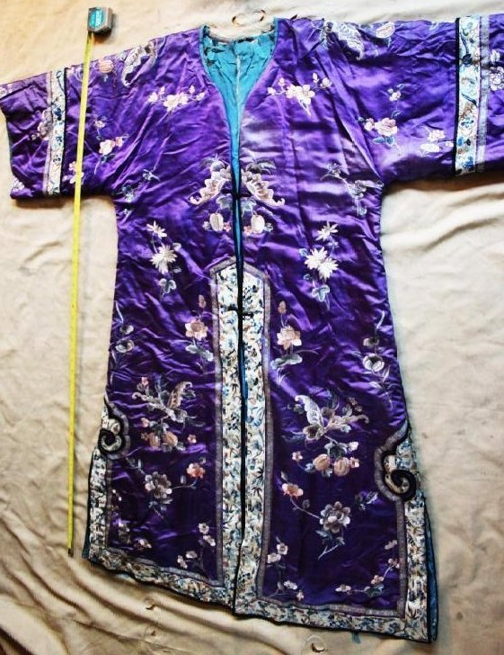 Antique Chinese Hand Carved Silk Cloth