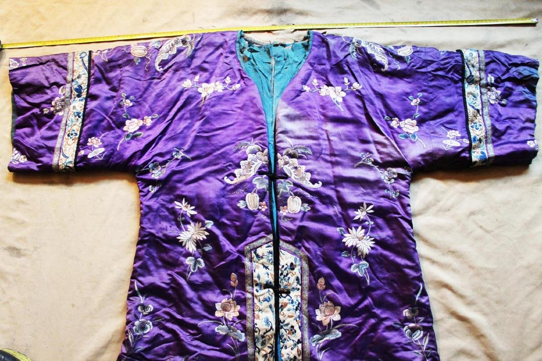 Antique Chinese Hand Carved Silk Cloth - 2