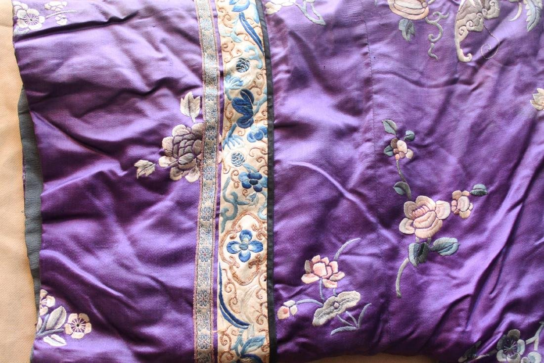 Antique Chinese Hand Carved Silk Cloth - 3