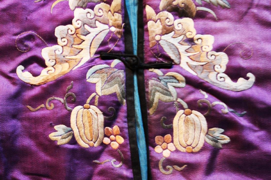 Antique Chinese Hand Carved Silk Cloth - 5