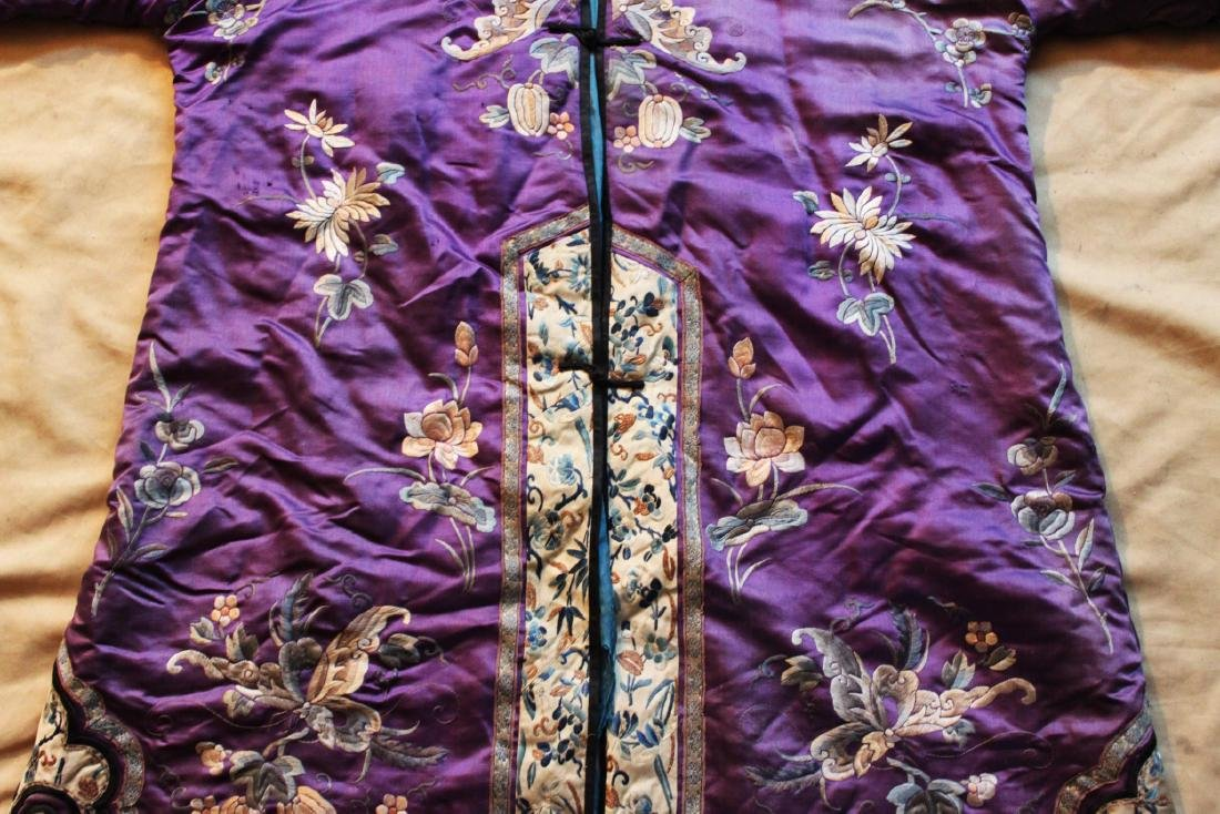 Antique Chinese Hand Carved Silk Cloth - 6