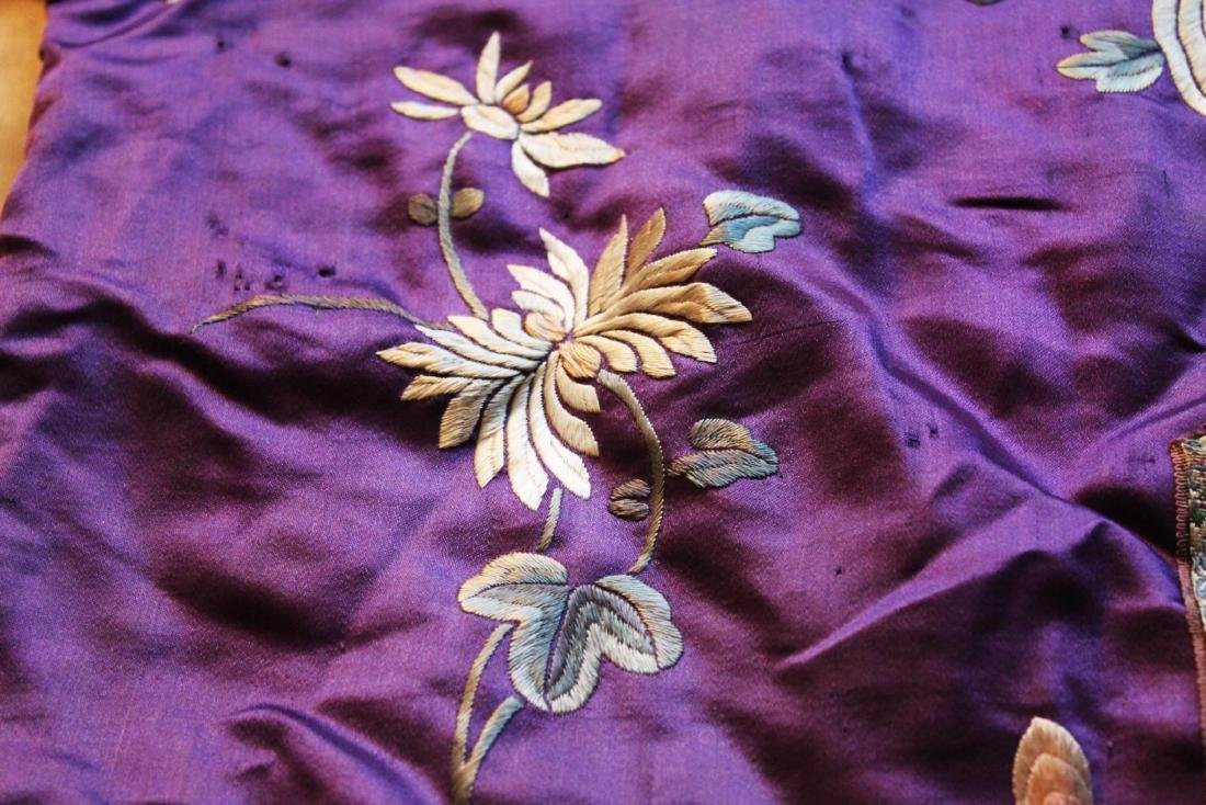 Antique Chinese Hand Carved Silk Cloth - 7
